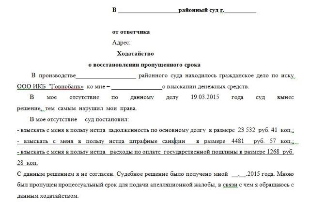 Правила составления заявления на обжалование решения суда