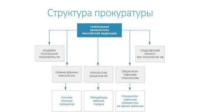 Структура органов прокуратуры